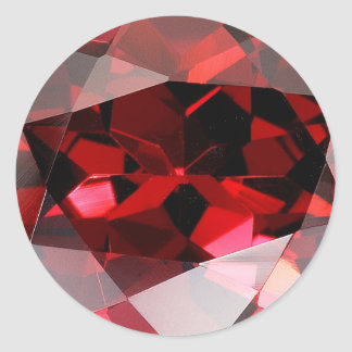 Roter Granats-Edelstein Januar Birthstone Runder Aufkleber