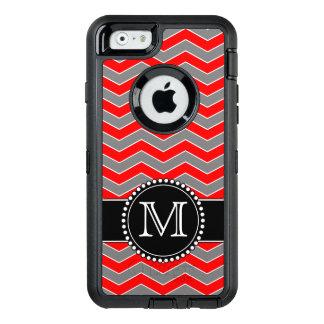Roter, grauer und schwarzer Zickzack, mit OtterBox iPhone 6/6s Hülle