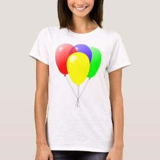 Roter grün-blauer und gelber Ballon-Entwurf T-Shirt
