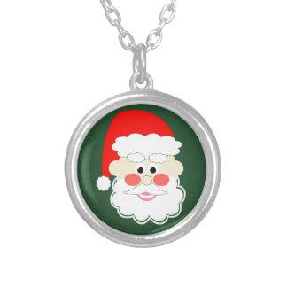 roter grüner Cartoon Weihnachtsmanns Versilberte Kette