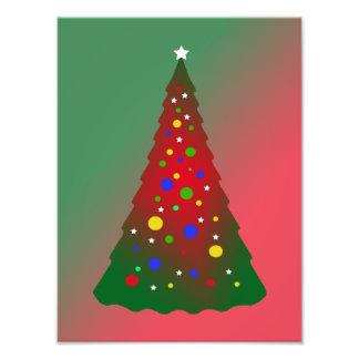 Roter grüner fröhlicher Weihnachtsbaum Kunstfoto