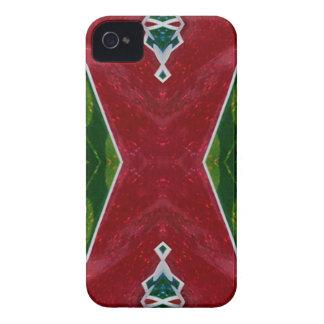 Roter grüner künstlerischer 'X'mas Entwurf iPhone 4 Hüllen