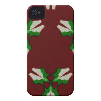 Roter grüner moderner künstlerischer Case-Mate iPhone 4 hülle