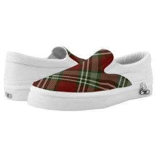 roter grüner weißer grayed Jade Weihnachtstartan Slip-On Sneaker
