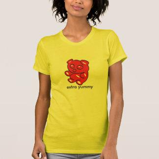 roter gummiartiger Bär t T-Shirt