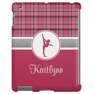 Roter Gymnastik-Schatz karierter iPad Fall iPad Hülle
