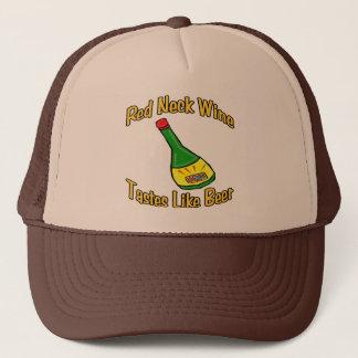 Roter Hals-Wein Truckerkappe
