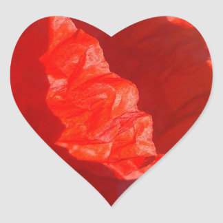 Roter Herz-Aufkleber