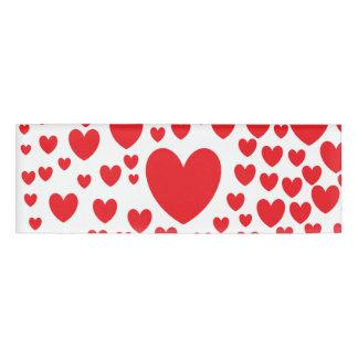 Roter Herz-Namensschild Namenschild