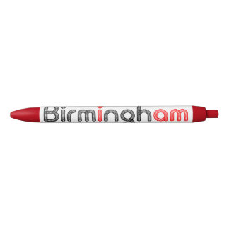Roter Herz-Stift Birminghams Kugelschreiber