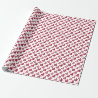 Roter Herz-Valentinstag Geschenkpapier
