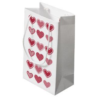 Roter Herz-Valentinstag Kleine Geschenktüte