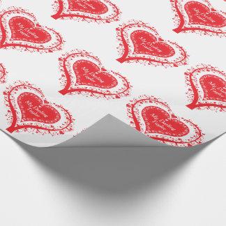 Roter Herzbaum des Valentinsgrußes genannt Geschenkpapier
