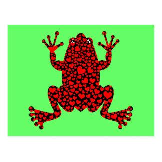 roter Herzfrosch Postkarten