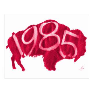 Roter Hester Büffel Postkarte