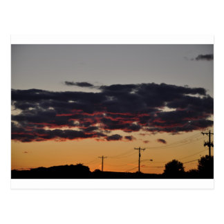 Roter Himmel 1 Postkarte