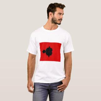 Roter Hintergrund Mandelbrot Fraktal-T - Shirt