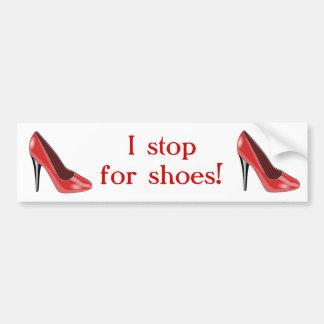 Roter hohe Fersen-Schuh-Autoaufkleber