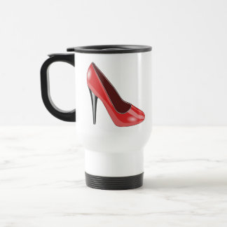 Roter hoher Absatz Tee Tasse