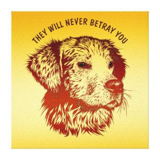 Roter Hund mit dem Brown-Augen-Zeichnen und Ihrem Leinwanddruck