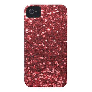 Roter Imitat-Glitzer iPhone 4 Case-Mate Hülle