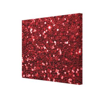 Roter Imitat-Glitzer Leinwanddruck