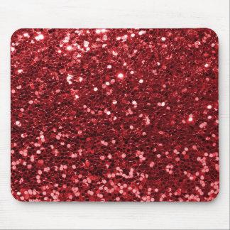Roter Imitat-Glitzer Mousepad