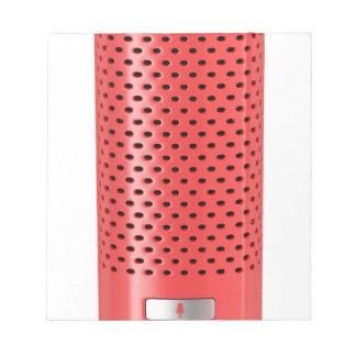 Roter intelligenter Lautsprecher Notizblock