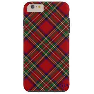 Roter karierter Entwurf iPhone Kasten Tough iPhone 6 Plus Hülle
