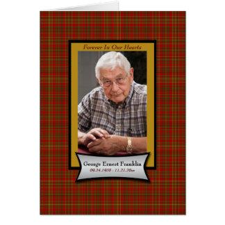 Roter karierter Flanell-Erinnerungskarte mit Foto Karte
