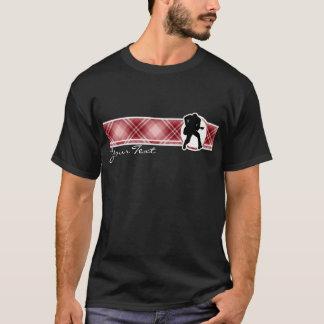 Roter karierter Gitarrist T-Shirt