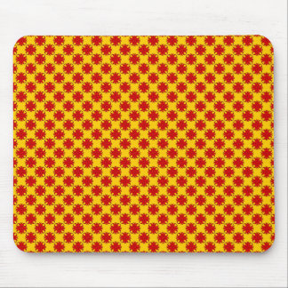 Roter Klee-Band durch Kenneth Yoncich Mousepad