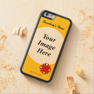 Roter Klee-Band-Schablone durch Kenneth Yoncich Bumper iPhone 6 Hülle Ahorn