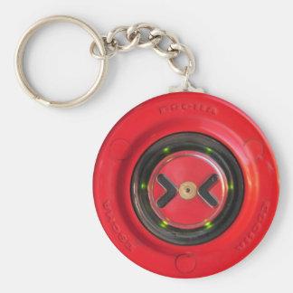 roter Knopf der nahen Tür des Zugs Standard Runder Schlüsselanhänger