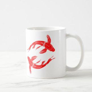 Roter Koi Fisch-Karpfen Kaffeetasse
