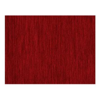 Roter körniger hölzerner Hintergrund Postkarte