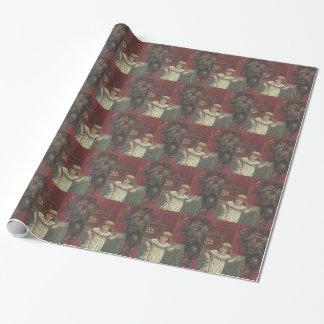 Roter Krampus Mädchen-Esszimmer-Schalter Geschenkpapier