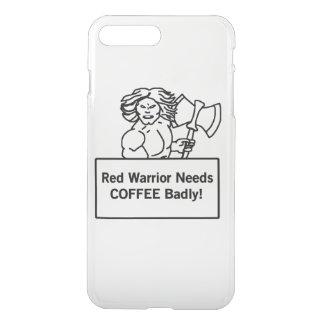 roter Krieger benötigt Kaffee schlecht iPhone 8 Plus/7 Plus Hülle