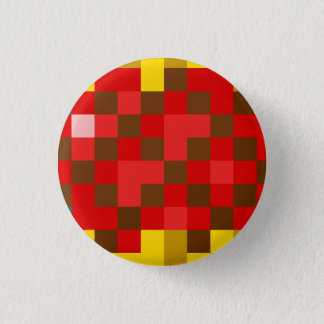 Roter Kristall Runder Button 3,2 Cm