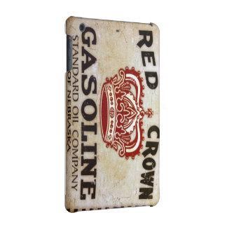 Roter Kronen-Benzin-Zeichen iPad Kasten