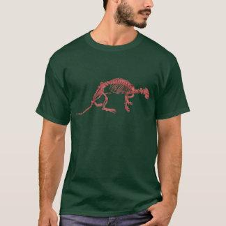 Roter Lehm-Otter-Skelett-T - Shirt