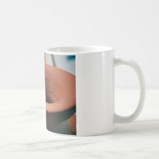 Roter Lehm-Tonwaren-Fotografie Kaffeetasse