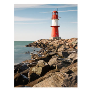 Roter Leuchtturm in Warnemuende Postkarte