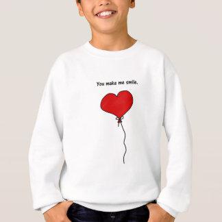 Roter Liebe-Herz-Ballon lassen Sie mich lächeln Sweatshirt