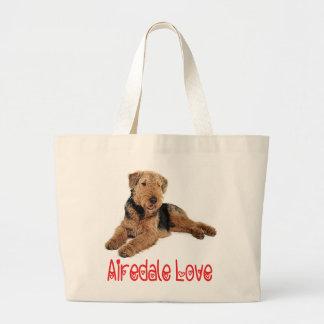 Roter Liebeairedale-Terrier Brown u. schwarzer Jumbo Stoffbeutel