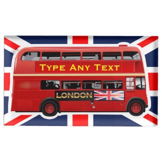 Roter London-Bus themenorientiert Tischkartenhalter