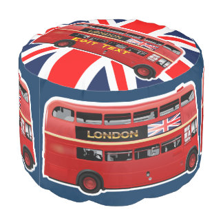 Roter London-Doppeldecker-Bus Hocker