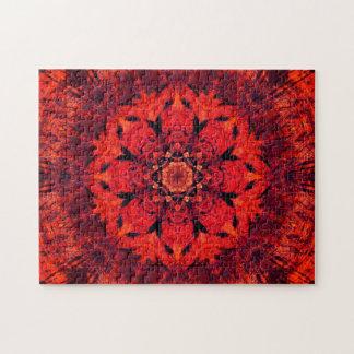 Roter Lotos-BlumeMandala Puzzle
