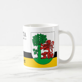 Roter Löwe u. grüner Baum von Liepaja Lettland Kaffeetasse