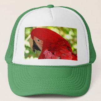 Roter Macaw-Papageien-Hut Truckerkappe